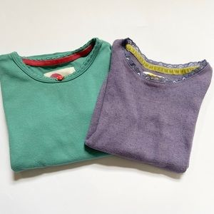 2 Mini Boden Supersoft Pointelle T-Shirts